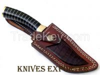 """KNIVES EXPORTER"" CUSTOM HANDMADE DAMASCUS STEEL HUNTING KNIFE"