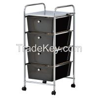 4 Tier Plastic Drawer Storage Trolley