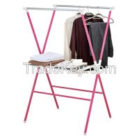Foldable Double Clothes Rack