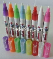 High quality 3mm nib Damp erase Dry erase fluorescent pen highlighter marker pen