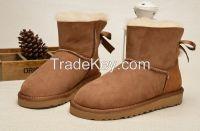 free shipping hottest australia womens bailer bow snow boots reel sheepskin 3280,women winter boots,real sheeepskin