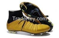 top Superfly FG Soccer Shoes  Pro Flyknit FG Football Shoes Outdoor Soccer Cleats Boots