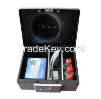 Manufacturer Biometric/fingerprint Aluminium alloy secret box  car safe gun/jewelry/precious mini portable safebox silver/golden