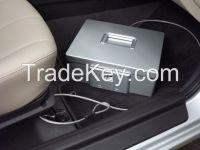 Manufacturer patent Biometric/fingerprint Aluminium alloy car safe gun/jewelry/precious/secrets mini portable safebox silver/golden