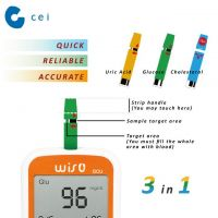 New 2019 Multifunction Device 3 in 1 Blood Glucose Tester Meter with Test Strips Health Care Products Home
