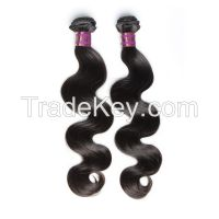 Cheap Brazilian Virgin Hair Extension Body Wavy Unprocessed Human Hair Weave