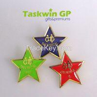 China zhongshan supplier custom metal pin badge, Custom 5 star metal pin