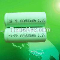 nimh battery/nimh aa 600mAh 1.2V battery/rechargeable battery