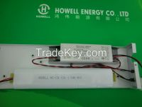 Emergency kit for fluorescent lamp and led lamp