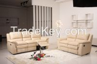 New Reclining Massage Sofa, Luxurious Fabric Sofa Bed