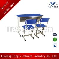 Cheap price adjusttable single student desk and chair,school furniture for children's education,high school furniture classroom