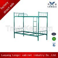 Factory direct sale steel bunk bed, metal school double bed, metal military bed