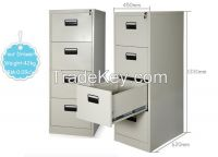 Metal, high quality cold-rold steel plate Material and Filing Cabinet Specific Use2 3  4 drawers steel filing cabinet