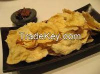 Fried MELINJO (GNETUM GNEMON) CHIPS / MELINJO