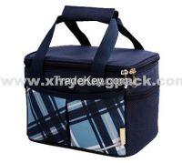 High Quality Navy Blue 600d Polyester Ice Cooler Bag for Food Drinks