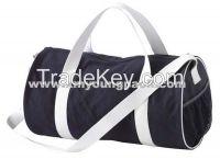 Large Navy Blue Barrel Canvas Duffel Bag