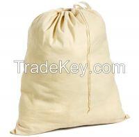 Reusable 100% Natural Cotton Canvas Drawstring Laundry Bags