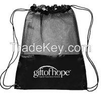 Black Nylon Drawstring Gym Sack