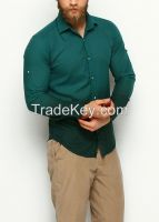 Men's Linen Shaded Casual Shirts