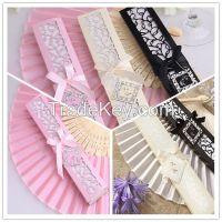 Beautiful and Cheap Gift Souvenir Wedding Fan Silk Hand Fan
