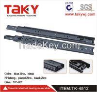 4512 heavy duty metal drawer slide telescope channel