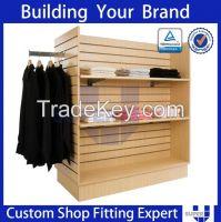 fashion customized slatwall gondola garment display
