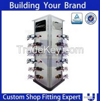 Fashion acrylic slatwall display rack sunglass display stands