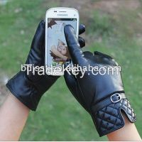 women touch screen leather gloves manufacturer