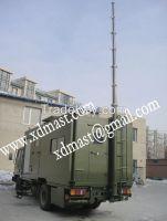 6m silver telescopic mast with manual mechanical winch ham radio tower