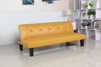 PVC Yellow color sofa bed