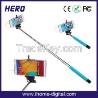 High quality wired monopod selfie stick with low price
