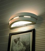 SIRIUS modern curved UP&DOWN indoor light wall lamp cermamic WHITE paintable