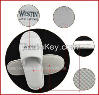open toe washbale white hotel slippers
