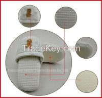 embroider waffle slipper guestroom hotel