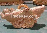 Erainlife beautiful ERRE001 Ployresin Golden fish home decoration