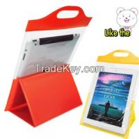 The best selling PVC waterproof bag with stand for ipad