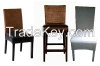LEATHER WICKER DINING CHAIR - READY STOCK