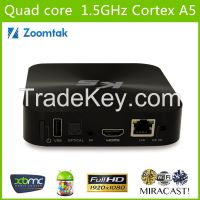 Set Top Google TV Box with Amlogics805 and Dual Band WiFi, Support HDMI1080p and Ethernet