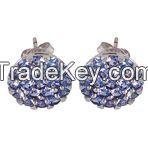 Tanzanite 925 Sterling Silver Earring Jewelry