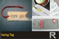 Swing tag with eyelet