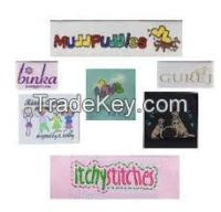 HOt Selling Woven satin and cotton Labels for Garment and fashion Accessories and footwear labels