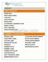 Cusomt Garment accessories Suppliers