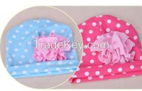 baby hat children hat 100% cotton lovely infant headwear polka dots baby cap