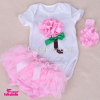 baby clothing romper with match ruffled pant baby suit and bow headband sets children clothes  3pcs