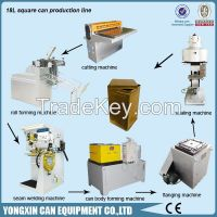 18L square Tin Can machines for metal bucket