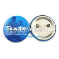 Hot sale 44mm tin button badge for promtional gift
