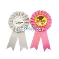 Hot sale rosette award ribbon for promotion