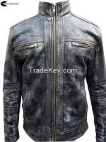 Jeans Style Handmade Leather Jacket