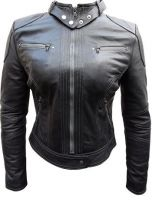 Stylish Ladies Racing Leather Jacket
