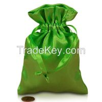 Lime Satin Rosary Pouch online